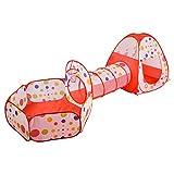 Bonega Kinder spielen Zelt Crawl Tunnel und Ball Pool Pit mit Basketballkorb faltbare Spas Spiel Spielhaus fur Kleinkinder Kind