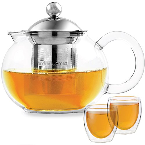 Andrew James Theiere Infuseur Thé Service Infusion (Verre, 700ml)