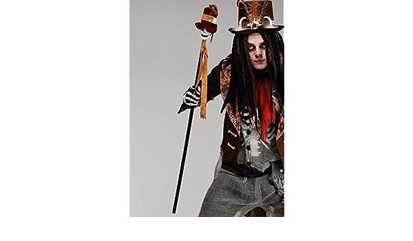 halloween voodoo prop skull cane magic box