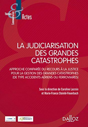 La judiciarisation des grandes catastrophes - 1re édition