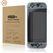 eXtremeRate® 2 Pack Ultra Slim Anti-scratch Nano Glass Protector de Pantalla para Nintendo Switch Console Protection Kits
