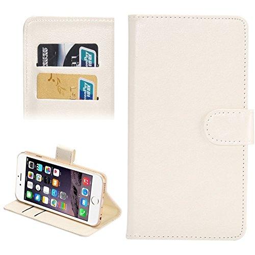 Wkae Case Cover 4,3-4,8 Zoll Universal-Crazy Horse Texture 360 Grad drehbaren Tragetasche mit Halter u-Karten-Slots für iPhone 6 &6S / Samsung Galaxy S4 / S3 / i9500 / i9300 ( Color : White ) White