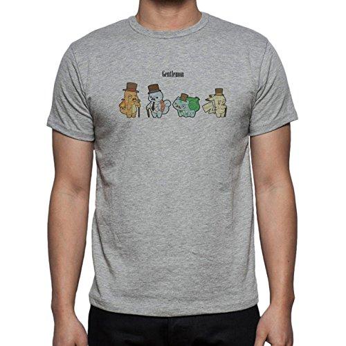 Pokemon Charmander Fire Dragon Four Sir Herren T-Shirt Grau