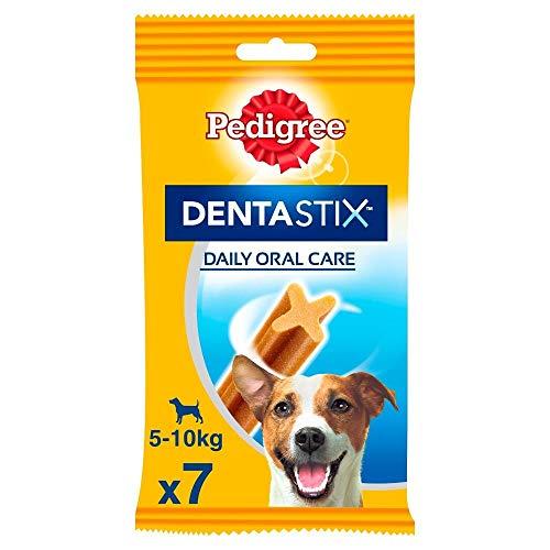 Pedigree DentaStix Hundeleckerli für kleine Hunde, Kausnack mit Huhn- und Rindgeschmack gegen Zahnsteinbildung für gesunde Zähne, 10er Pack (10 x 7 Stück)