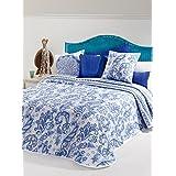 manterol casa Colcha Azul Cama 135 (235 x 270 cm + 2/50 x 50 cm)