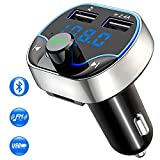 Cocoda FM Transmitter Auto Bluetooth, Kabelloser MP3-Player Radio Adapter Car Kit mit Dual