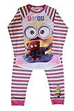 Minions con Licencia Camisa de Pijama Oficial de Conjunto Pijama de algodón con Mangas Completas para niños/niñas / niños (4-5 Años)