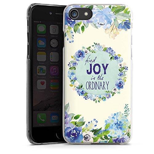 Apple iPhone X Silikon Hülle Case Schutzhülle Blumen Spruch Muster Hard Case transparent