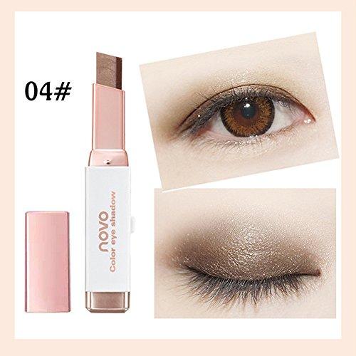 Double Farben Long Lasting Wasserdicht Eyeshadow Stick Eyeshadow Makeup Pen (2 Farben, Mehrfarbig 04#) ()