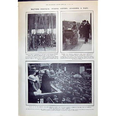 Impresión Antigua de los Mineros 1910 de Carbón de Señor Wolmer de Juan Redmond Diana Churchill AE…
