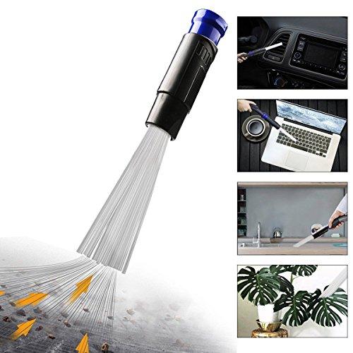 Dust Bürste Universal 30-35mm Staubsaugeraufsatz Daddy Staubsaugerbürste Reinigungswerkzeuge klein Reinigungsbürste Auto PC CD Bildschirm (Blau)