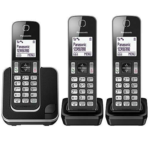 טלפון אלחוטי !  Panasonic KX-TGD313EB Pack of 3