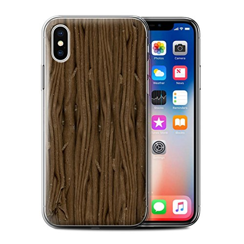 Stuff4 Gel TPU Hülle / Case für Apple iPhone X/10 / Dairy Milk Blocks/Slab Muster / Schokolade Kollektion Flocke