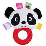 Viel Spaß Baby-runde Nette Tier-Gummiring rattert Handspielzeug (Panda)