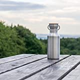 Pure Design – 750 ml Edelstahl Trinkflasche in Geschenk Verpackung - 5
