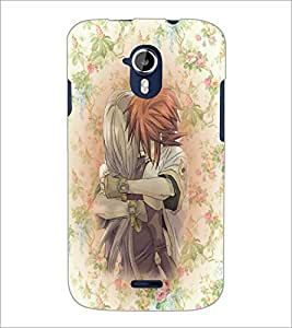 PrintDhaba Couple D-3710 Back Case Cover for MICROMAX A116 CANVAS HD (Multi-Coloured)