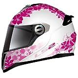LS2 FF392 Vanity - Kinder Motorrad-Helm - Integralhelm für Mädchen - Weiß/Pink M