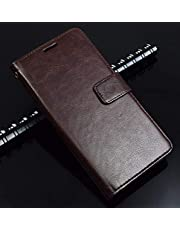 Thinkzy SA62-LE3 Flip Cover for Samsung Galaxy A6 Plus (Coffee Brown)