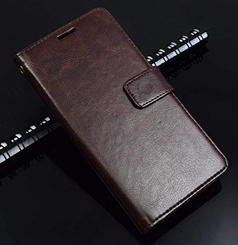 Lenovo Vibe K5 Plus Flip Cover Case : Thinkzy High Quality Artificial Leather Flip Cover Case for Lenovo Vibe K5 Plus – Coffee Brown