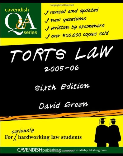 Torts Law Q&A 2005-2006 (Questions & Answers)