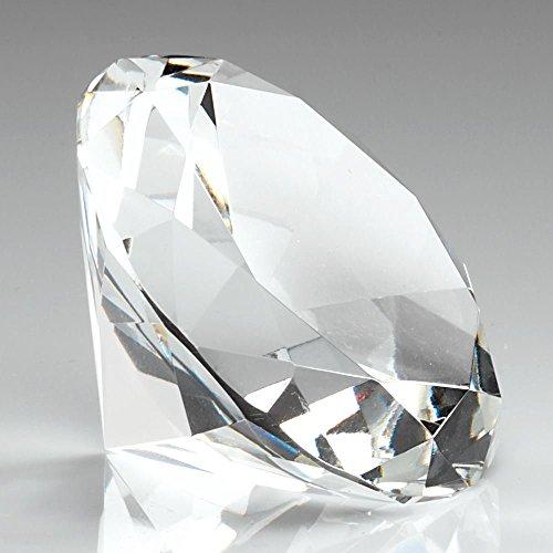 Gravur personalisierbar Abbey Glas Diamant Geformt Briefbeschwerer gratis Gravur -