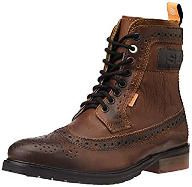 Superdry Men's Brad Brogue Boot Brown Leather Boots - 12 UK
