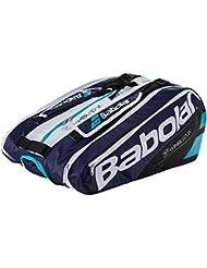 Babolat Rh X12 Pure Wimbledon Fundas para Raquetas de Tenis, Unisex Adulto, Azul / Blanco, Talla Única