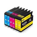 IKONG 933XL Compatible Cartouche HP 933 XL, Haut Rendement, Patronen 6er Set für HP OfficeJet 6700 7510 7612 6600 6100 7110 7610 Imprimante - Color 825 Pages
