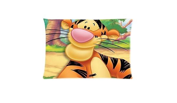 Cartoon Winnie The Pooh Tigger Pillowcase Size 20x30 Inches Two Sides Print Zipper Pillowcases