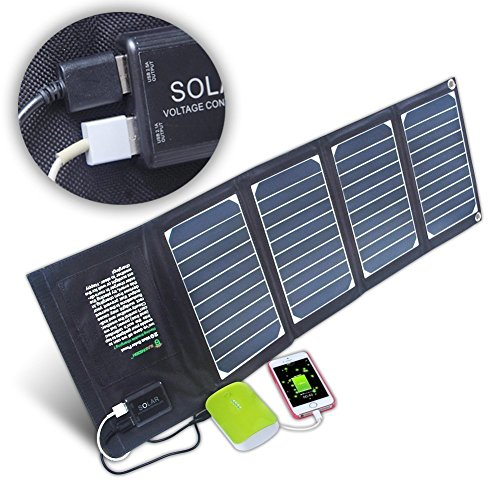 KINGSOLAR Solar Charger 20W Dual USB Solar Panel Charger for iPhone 6 6s Plus, Samsung Galaxy S5 S6 Note 4 5, Sony Xperia and any 5V USB devices