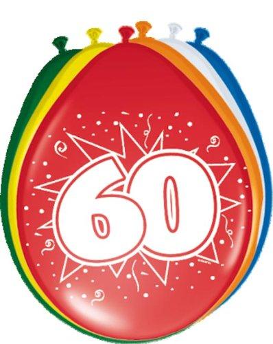 8 Luftballons Zahl 60 Geburtstag bunt (Halloween Erklärung Von 3)