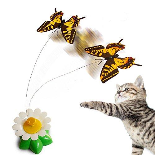 juguete interactivo para gatos con mariposas