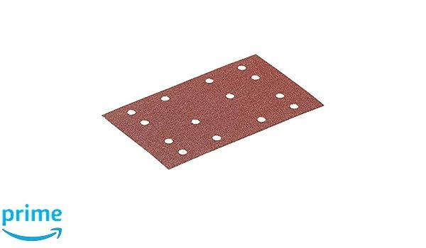 100 pi/èces Multi-Colour Festool 492853 Abrasive Sheet STF 80x133 P150 BR2//100