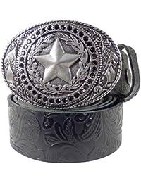 f5d3f41ed75478 Westernwear-Shop Ledergürtel Black Daisys & Sheriff Silber Ledergürtel mit  Gürtelschnalle Westerngürtel Damengürtel Westernkleidung Schwarz