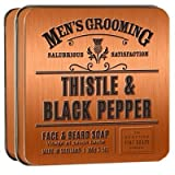Scottish Fine Soaps Thistle & Black Pepper Face & Beard Soap