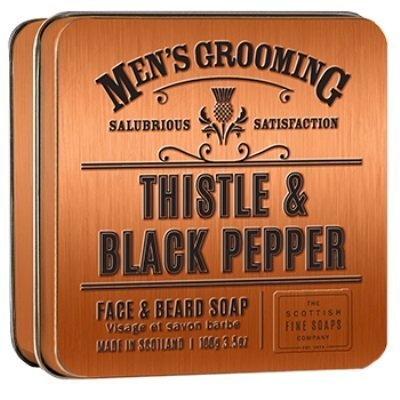 Scottish Fine Soaps Thistle & Black Pepper Face and Beard Soap