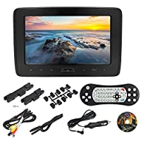Fesjoy 10 Inches Car Headrest DVD Player Auto Monitor 1024 * 600P Touch Button Support Game Disk HD Input AV Input SD Card Slot Headphone Output