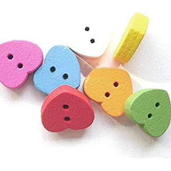 2 Hole Pack of 10 x Mixed Wood 18mm Tortoise Buttons - Charming Beads - HA09860
