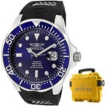 Invicta watch - Reloj cronógrafo automático para hombre con correa de plástico, color negro