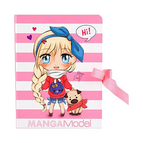 Manga Model–Block A Geheimnisse Rosa 19x 13cm für die Fans-Fan