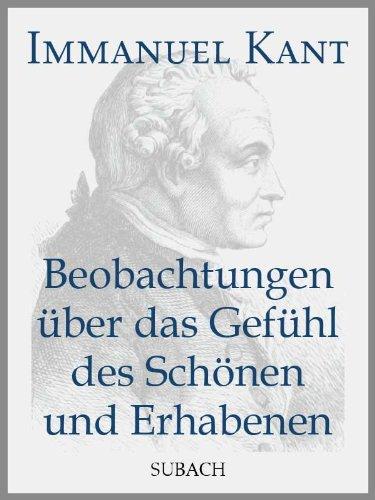 beobachtungen-uber-das-gefuhl-des-schonen-und-erhabenen-german-edition
