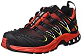 Salomon L39185800, Zapatillas de Trail Running Para Hombre, Multicolor (Radiant Red/Black/Gecko Green), 44 EU