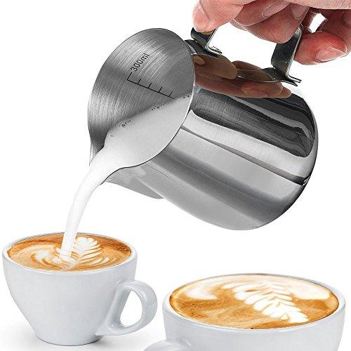 BlueBeach® Acier Inoxydable 350ml Pot à Lait pour Café Mousse de Lait