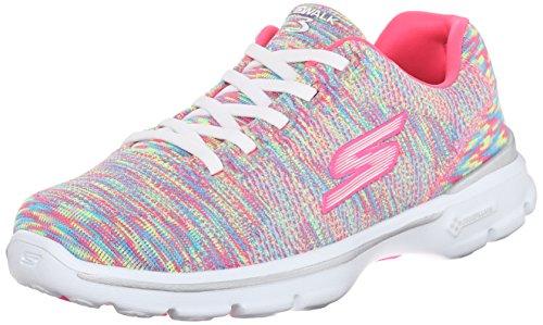 Skechers Go Walk 3Pulse, Baskets Basses Femme, Various Rainbow Multi