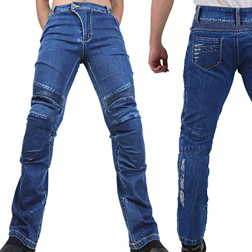 Preisvergleich Produktbild Motorradhose Jeans -Ranger- Leicht Dünn Herren Sommer Textil Jeanshose Slim Fit Motorrad Textilhose Männer Eng Stretch - blau - M