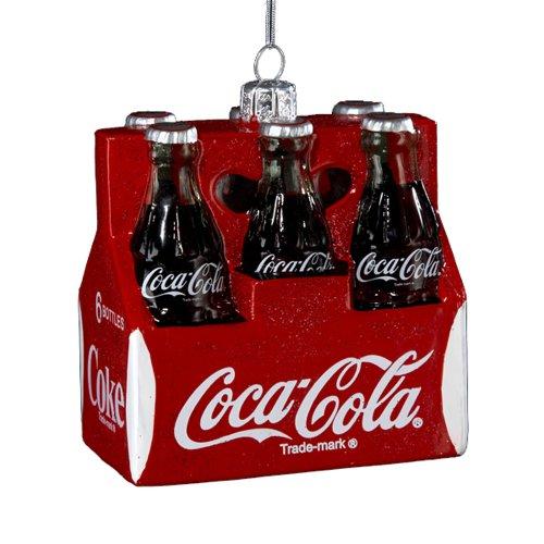 Kurt Adler Coca-Cola Dekofigur, Glas, 7,6 cm, 6 Stück -