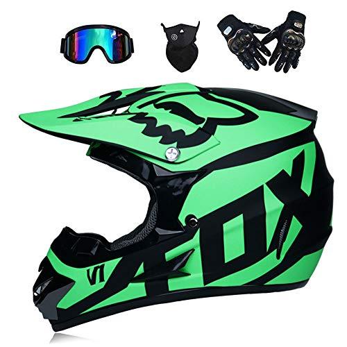 WenYan Motos Motocross Cascos Guantes Gafas estándar