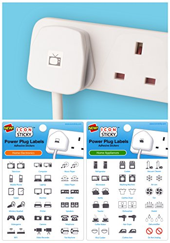 Power Plug Labels for Home Elect...