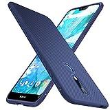 iBetter Coque Nokia 7.1, Ultra Mince Silicone Cas Solide, Durable, Anti-Chute, antidérapant Cas Souple TPU Cas Mobile Téléphone Case pour Nokia 7.1 Smartphone. Bleu