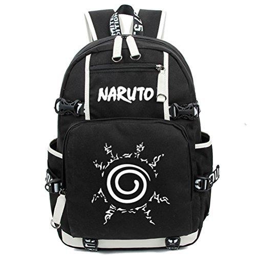 yoyoshome Naruto Anime Uzumaki Naruto cosplay Luminous Messenger Bag Rucksack Schule Tasche schwarz Naruto1 (Plüsch-puppen Naruto)